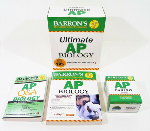 Barron's Ultimate AP Biology Study Pack Review Book, Q&A & Flashcards SEE DESCR.