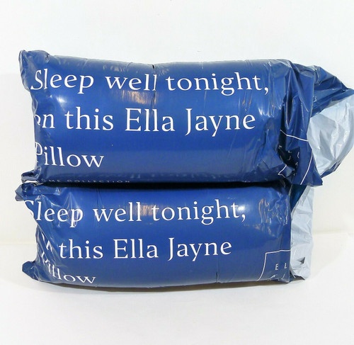 """Set of 2 Ella Jayne Polyester Queen Size 20"""" x 30"""" Pillows - NEW"""