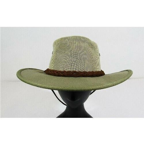 Barmah Hats Beige Vented Men's Fishing/Outdoor/Safari Hat w/ Drawstring Size M