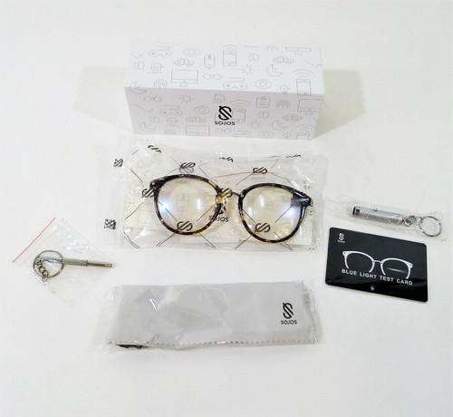 Sojos Retro Big Round Blue Light Computer Glasses TR90 Eyewear SJ9001 - NEW