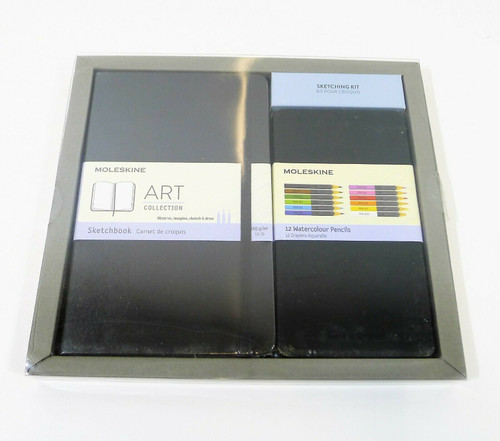 "Moleskine Sketchbook & Watercolor Pencil Set Hard Cover 5"" x 8.25"" - OPEN BOX"