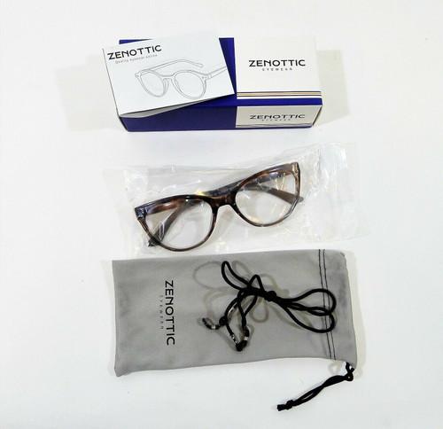 Zenottic Women's Brown Cat Eye Reading Glasses Frames +1.50 - NEW