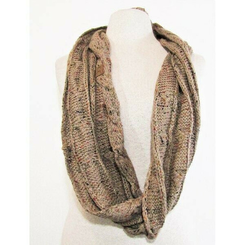 C.C Exclusives Women's Brown Speckled Infinity Scarf One Size **NEW WITH TAGS**