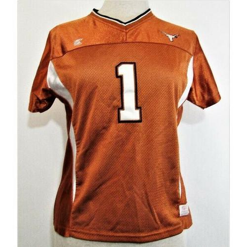 Colosseum Athletics Women's Burnt Orange #1 Texas Longhorns Jersey Size XL