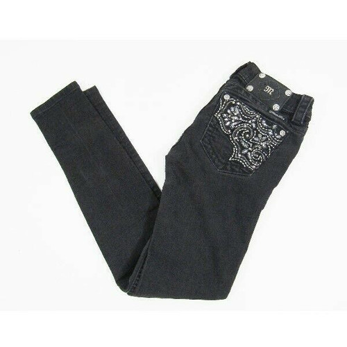 Miss Me Women's Black Decorative Skinny Jeans Size 25