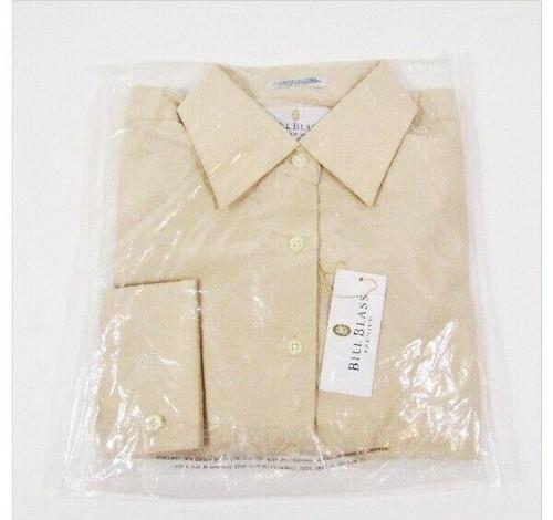 Bill Blass Premium Women's Tan Long Sleeve Button Up Blouse NWT Size M