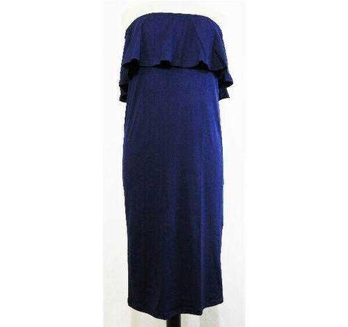 Coolmee Blue Off Shoulder Women's Maternity Dress Size M *NEW IN PACKAGE*