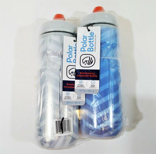 Set of 2 Polar Bottle Breakaway Bolt Insulated Water Bottles 20oz - NEW