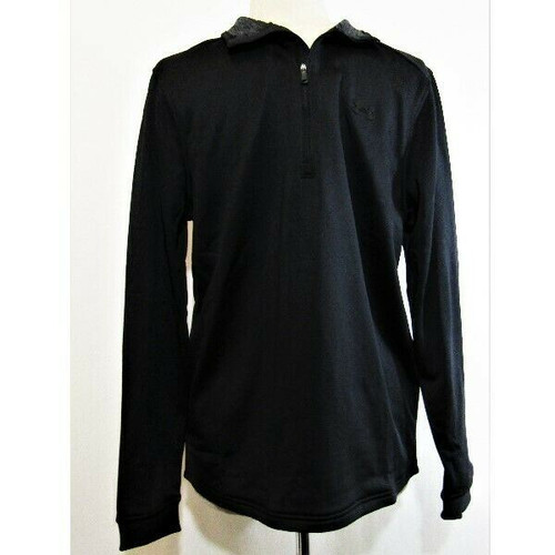 Under Armour Men's Black Quarter Zip Pullover Jacket Size M *NEW WITH TAGS**