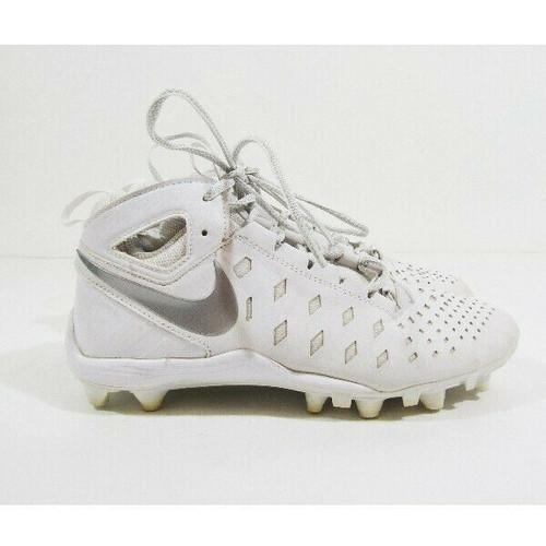 Nike White Unisex Athletic Cleats Size 6 Youth