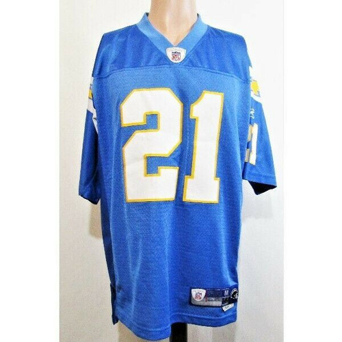 Reebok NFL #21 LaDainian Tomlinson Blue, Yellow & White Jersey Size Medium