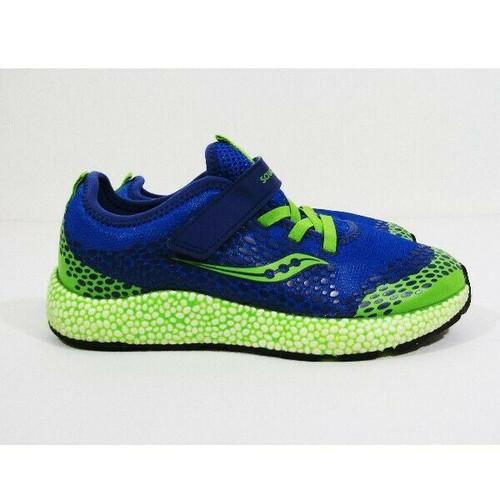 Saucony Kids Astrofoam Green & Blue Boys/Girls Running Shoes Size 3W