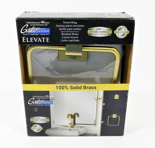 Gatco Brushed Brass Elevate Towel Ring 4062 - OPEN BOX