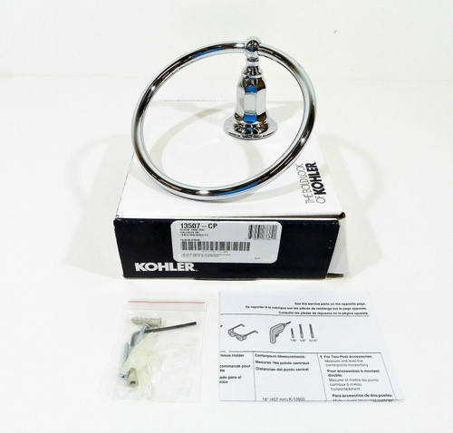 Kohler Kelston Bathroom Towel Ring in Polished Chrome 13507-CP - OPEN BOX