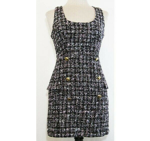 Forever 21 Multicolor Women's Sleeveless Tweed Dress Size S **NEW IN PACKAGE**
