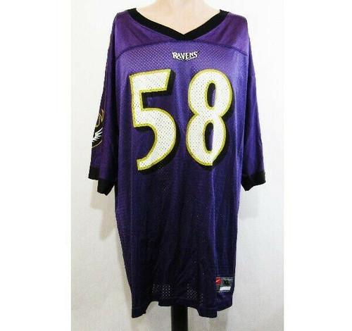 Nike Baltimore Ravens Peter Boulware #58 Jersey Size XL