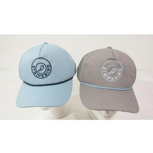 Stripebird Set of 2 Unisex Snapback Baseball Caps Blue/Gray **NEW WITH TAGS**