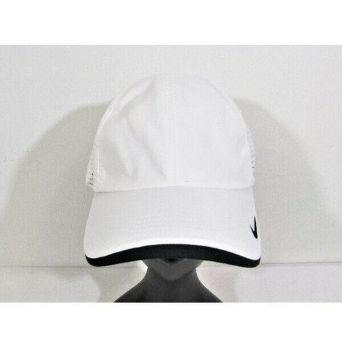 Nike Golf Dri-Fit Unisex White Swoosh Adjustable Cap No Size **NEW WITH TAGS**