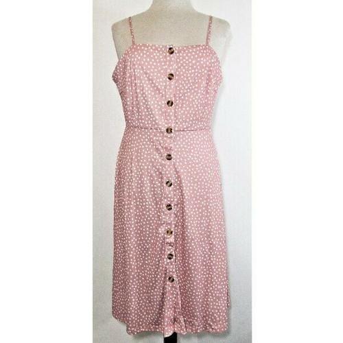 Berydress Women's Pink & White Polka Dot A-Line Dress Size XL **NEW IN PACKAGE**