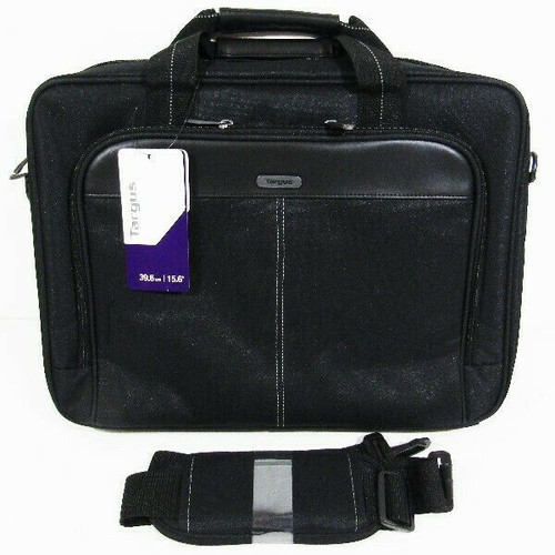 """Targus Black Classic Topload Laptop Bag w/ Straps 15.6"""" / 39.6cm NEW IN PACKAGE"""