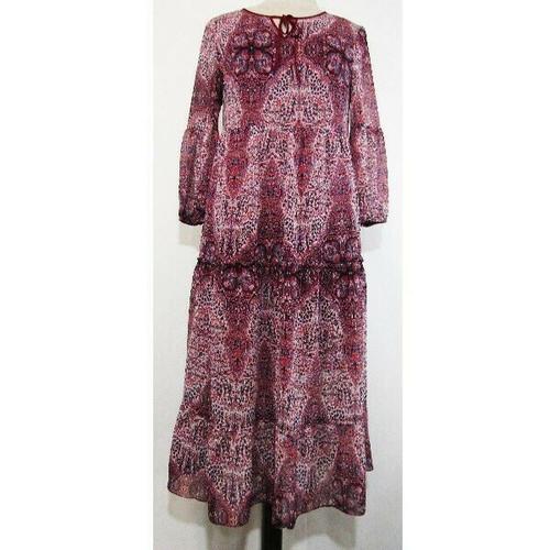 St. John's Bay Women's Multicolor Patterned Drop Waist Dress Size M