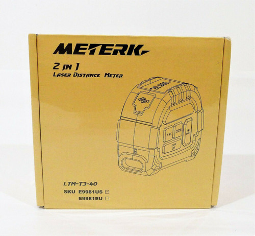 Meterk 2 in 1 Laser Distance Meter E9981US