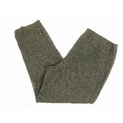 J. Jill Women's Tan & Black Diamond Patterned Slim Leg Ponte Pants Size L Petite