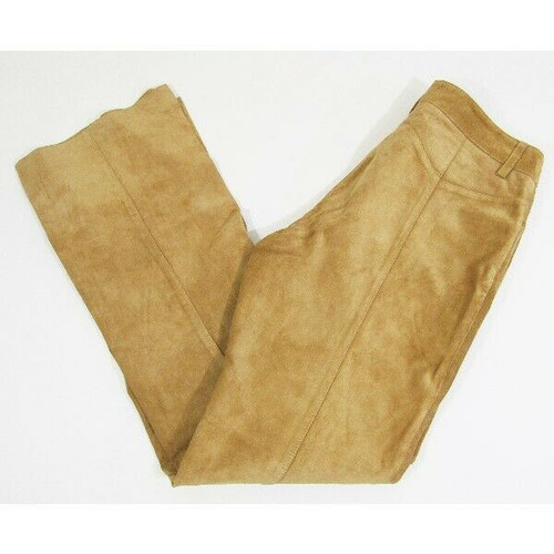 DKNY Jeans Women's Brown/Tan 100% Suede Bootcut Jeans Size 10