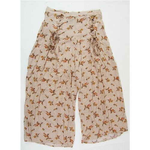 American Eagle Women's Pink Floral Loose Fit Gaucho Pants Size M