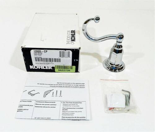 Kohler Kelston Robe Hook in Polished Chrome K-13505-CP - OPEN BOX