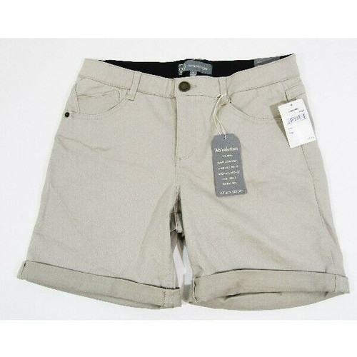 """Wit & Wisdom Women's """"Ab""""solution Khaki Shorts Size 8 **NEW WITH TAGS**"""