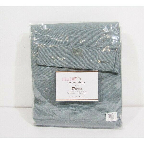 """Sunbrella Solid Teal Outdoor Drape Curtain W 50"""" x  L 108"""" **NEW IN PACKAGE**"""