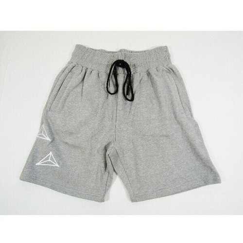 Mediums Collective Gray & White Men's Athletic Fleece Shorts Size L **NWT**