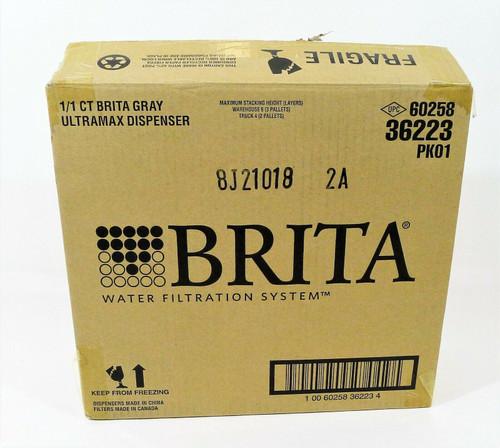 Brita Gray Standard UltraMax Water Filter Dispenser Extra Large 18 Cup -OPEN BOX