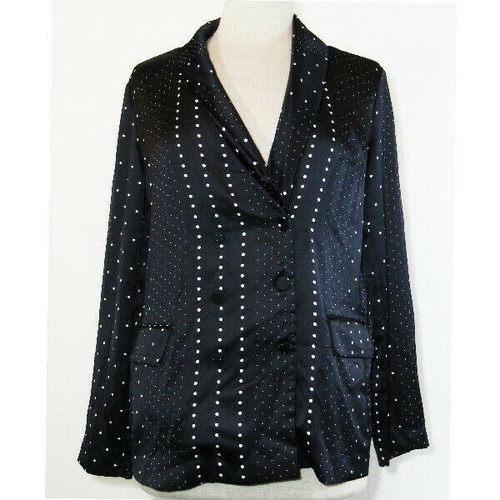 Victoria's Secret Women's Black Dot Jacquard Styled Blazer Size Small **NWT**