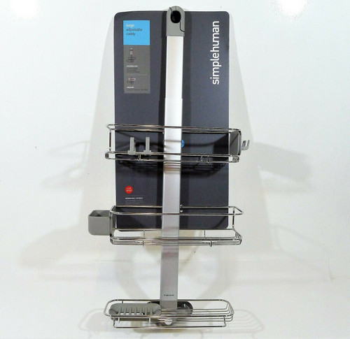 Simplehuman Adjustable Shower Caddy Plus NEW - LOCAL PICKUP AUSTIN, TX ONLY