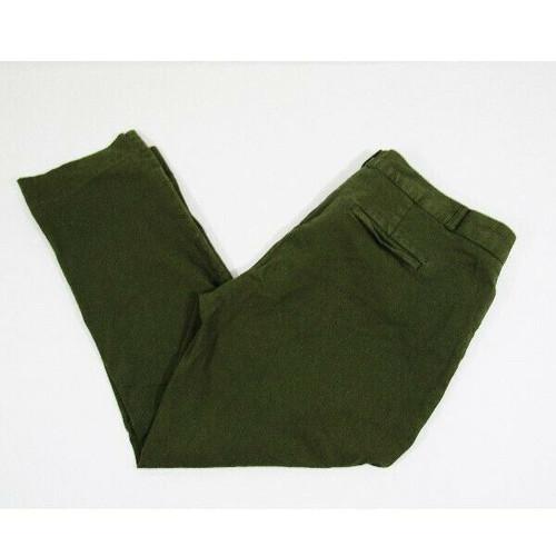 Banana Republic Women's Green Straight Leg Sloan Pants Size 14 Petite