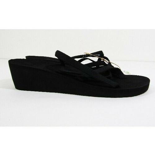 Teva Women's Black Mush Mandalyn Wedge Sandals Size 11 **NEW IN PACKAGE**