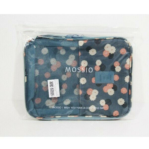 Mossio Women's Blue Floral Shoe Bag for Travel 12 x 10 x 3 **NEW IN PACKAGE**