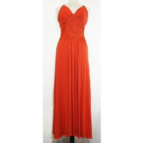 Shine New York Women's Orange Halter Top Dress Size S **NEW WITH TAGS**