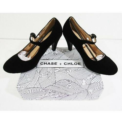 Chase + Chloe Kimmy-21 Women's Black Round Toe High Heels Size 8 **NEW OPEN BOX*
