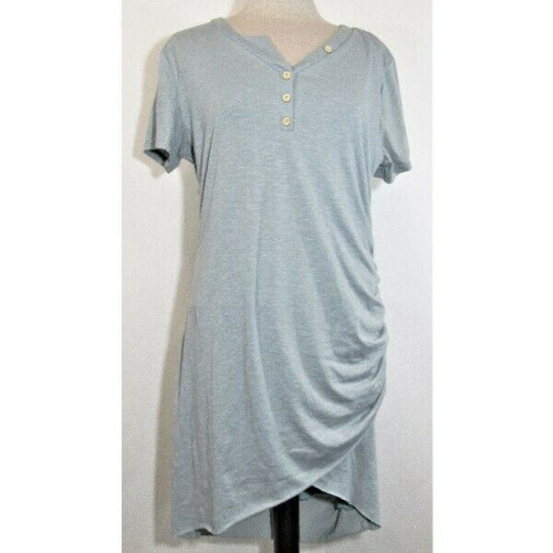 BTFBM Women's Teal Maternity Dress w/ Ruched Side Size XL **NEW IN PACKAGE**