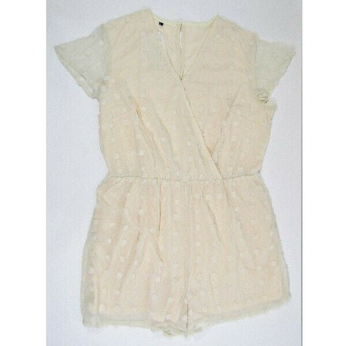 BTFBM Women's Cream Shorts Romper Size XL **NEW WITH TAGS**