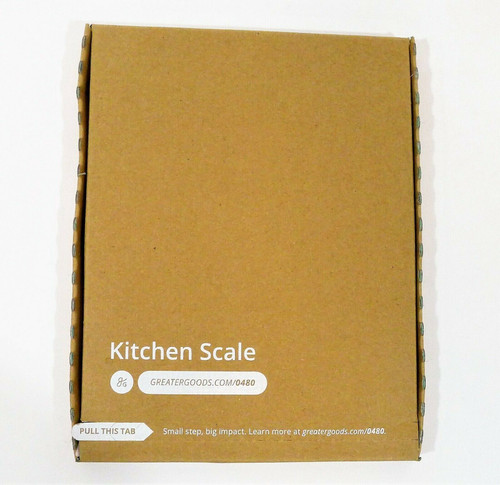 GreaterGoods Ash Gray Digital Food Kitchen Scale - NEW SEALED