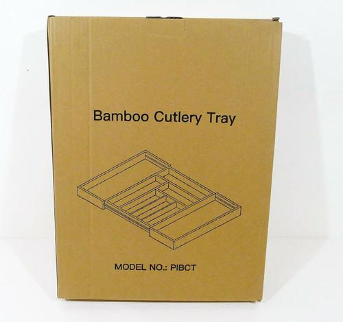 Pipishell Bamboo Expandable Adjustable Cutlery Tray Drawer Organizer NEW SEALED