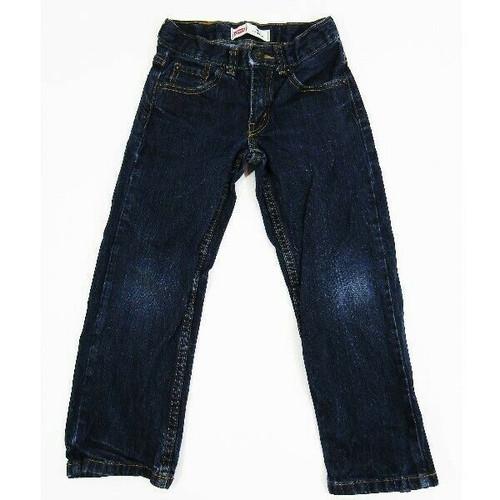 Levi's 505 Dark Wash Girls Bootcut Jeans Size 6 Regular