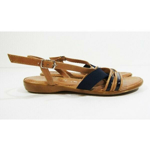 Italian Shoemakers Women's Navy Blue & Brown Sandals Size 6M