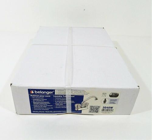 Belanger 4'' Deck Laundry Tub Faucet W/K2 Plastic 3040W in Chrome Finish - NEW