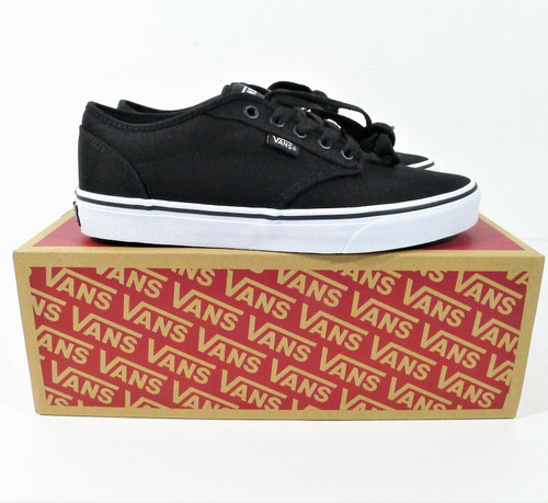 Vans Men's Black Atwood Canvas Trainers Size 8.5 M - NEW IN BOX