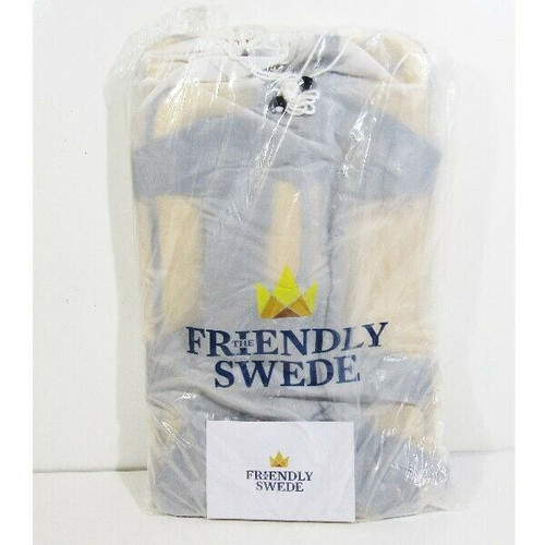 """The Friendly Swede Waterproof Duffel Bag with Backpack Straps 23.6""""x14.2"""" **NWT"""